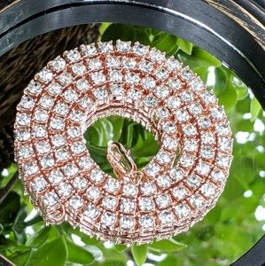 🔱18K Rose Gold🔱 Plated 5mm Tennis Chain